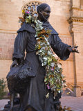 Statue of St Francis of Assisi  St Francis Cathedral  City of Santa Fe  New Mexico  USA