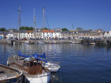 Boats on Water and Waterfront at Neuk of Fife  Anstruther  Scotland  United Kingdom  Europe