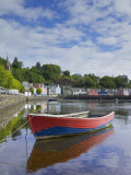 Multicoloured Houses and Small Boats in the Harbour at Tobermory  Balamory  Mull  Scotland  UK