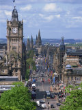 City Skyline and High Level View over Princes Street  City Centre  Edinburgh  Lothian  Scotland  UK