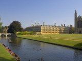 Clare College and Kings College Chapel  Cambridge  Cambridgeshire  England  United Kingdom  Europe