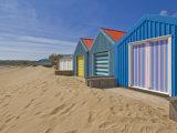 Multicoloured Beach Huts  Morfa Gors Beach  Borth Fawr  Llyn Peninsula  Gwynedd  North Wales