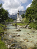Ramsau Church  Near Berchtesgaden  Bavaria  Germany  Europe