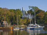 Yachts Moored in Rockport Harbour  Maine  United States of America  North America