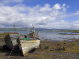 Wrecked Fishing Boats Near Salen  Isle of Mull  Inner Hebrides  Scotland  United Kingdom  Europe