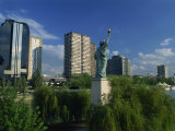 France's Own Statue of Liberty  and City Skyline  Port De Javel  Paris  France  Europe