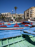 Fishing Boats  Piazzale Batteria Masotto  Messina  Sicily  Italy  Europe