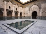 Medersa Ben Youssef  Marrakech  Morocco  North Africa  Africa