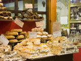Window Display of Traditional Torrone  Cakes and Pastries  Taormina  Sicily  Italy  Europe
