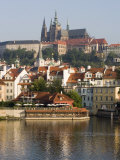 St Vitus's Cathedral and Royal Palace on Skyline  Old Town  Prague  Czech Republic