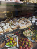 Traditional Marzipan Fruits and Pastries in Shop Window  Cefalu  Sicily  Italy  Europe