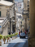 Steep Street  Noto  Sicily  Italy  Europe