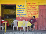 Restaurant in Puerto Corinto  Department of Chinandega  Nicaragua  Central America