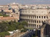 View from Altare Della Patria of Colosseum  Rome  Lazio  Italy  Europe