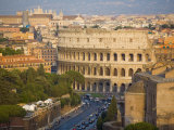 Colosseum  View from Altare Della Patria  Rome  Lazio  Italy  Europe