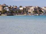 Waterfront  Mondello  Palermo  Sicily  Italy  Mediterranean  Europe