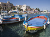 Traditional Fishing Boats  Harbour  Mondello  Palermo  Sicily  Italy  Mediterranean  Europe