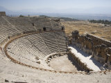 Theatre  Built 200Bc  Archaeological Site of Hierapolis  Pamukkale  Anatolia  Turkey Minor  Eurasia