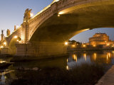 St Angelo Castle and Vittorio Emanuele Bridge  Rome  Lazio  Italy  Europe