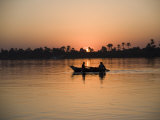 Fishing Boat  Sunset  River Nile  Egypt  North Africa  Africa