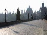 Statues on Charles Bridge  Old Town  Prague  Czech Republic