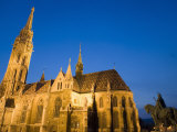Matyas Church and Statue in the Castle District  Evening Light  Budapest  Hungary  Europe