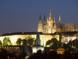 St Vitus's Cathedral  Royal Palace and Castle in the Evening  Prague  Czech Republic