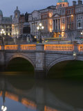 O'Connell Bridge  Reflection  Early Evening  Dublin  Republic of Ireland  Europe