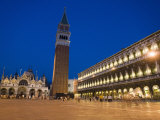 St Mark's Cathedral and Campanile in Early Evening  St Mark's Square  Venice  Veneto  Italy