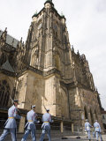 Marching Soldiers  St Vitus's Cathedral  UNESCO World Heritage Site  Prague  Czech Republic