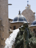 Turia Fountain  Plaza De La Virgen  Valencia  Mediterranean  Costa Del Azahar  Spain  Europe