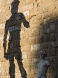 Shadow of Statue of David  Piazza Della Signoria  Florence  Tuscany  Italy  Europe