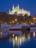 Cathedral and Port  Palma  Majorca  Balearic Islands  Spain  Mediterranean  Europe