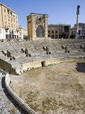 Roman Theatre  Sant'Oronzo Square  Lecce  Lecce Province  Puglia  Italy  Europe