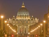 St Peter's Basilica and Conciliazione Street  Rome  Lazio  Italy  Europe