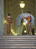 Swiss Guards  St Peter's Square  Vatican City  Rome  Lazio  Italy  Europe