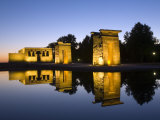 Debod Temple  Madrid  Spain  Europe