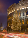 Colosseum at Christmas Time  Rome  Lazio  Italy  Europe