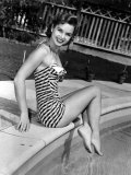 Debbie Reynolds Poolside  1954