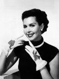 Ann Miller Wearing Republican-Democrat Party Gloves  1952