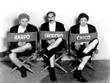 Marx Brothers - Harpo Marx  Groucho Marx  Chico Marx on the Set of Night at the Opera  1935