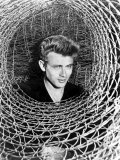 James Dean Peeking Through a Spiral of Chicken Wire  Mid-1950s
