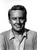 Van Johnson  Wearing a Sweater and Striped Shirt