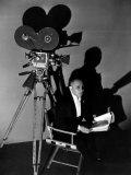 Three Faces East  Erich Von Stroheim Awaits His Cue  On-Set  1930