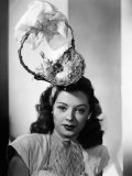 Jane Greer  Modeling an Enterprising Easter Bonnet  1947