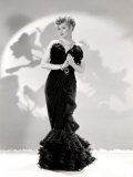 Lucille Ball Models a Lovely Black Gown  Publicity Still  1940&#39;s