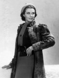 Vivien Leigh in a Gray Lamb Coat  1937