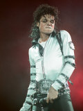 Michael Jackson Performing on Stage at Wembley During the Bad Concert Tour  July 14  1997