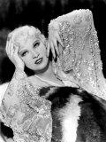 Mae West  in Beaded Dress  on Fur Rug  1930s