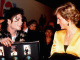 Michael Jackson Meeting Princess Diana at His Concert in Wembley Stadium  July 1988